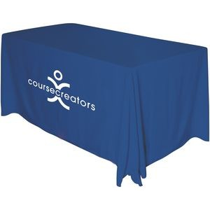 Draped 6' Table Throw (1 Color Screen Print)