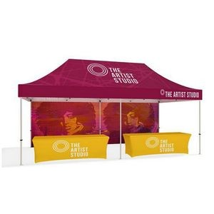 20' Tent Hardware Includes Hardware, Top, Backwall, & 2 Sided Graphics