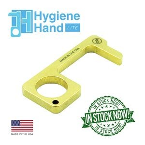Hygiene Hand Antimicrobial Brass EDC Door Opener & Stylus Hygiene Hand-LITE- Antimicrobial Brass