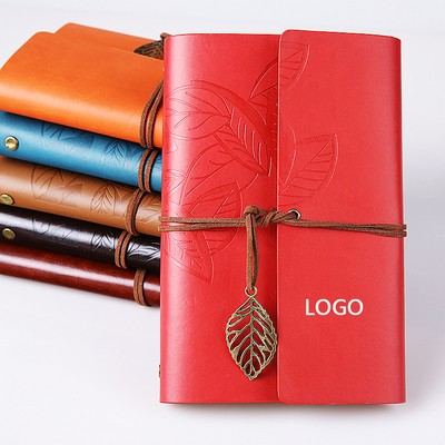 A5 Eco-Inspired Leaf Notebook w/Retro Charm