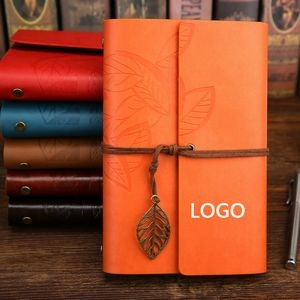 A6 Eco-Inspired Loose-Leaf Notebook w/Retro Charm