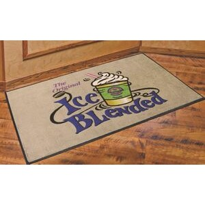 DigiPrint™ Nylon Indoor Carpeted Logo Mat w/Rubber Backing (3'x5')